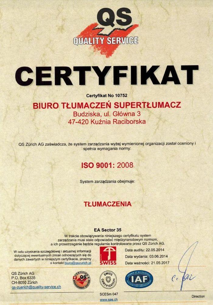 certyfikatiso9001